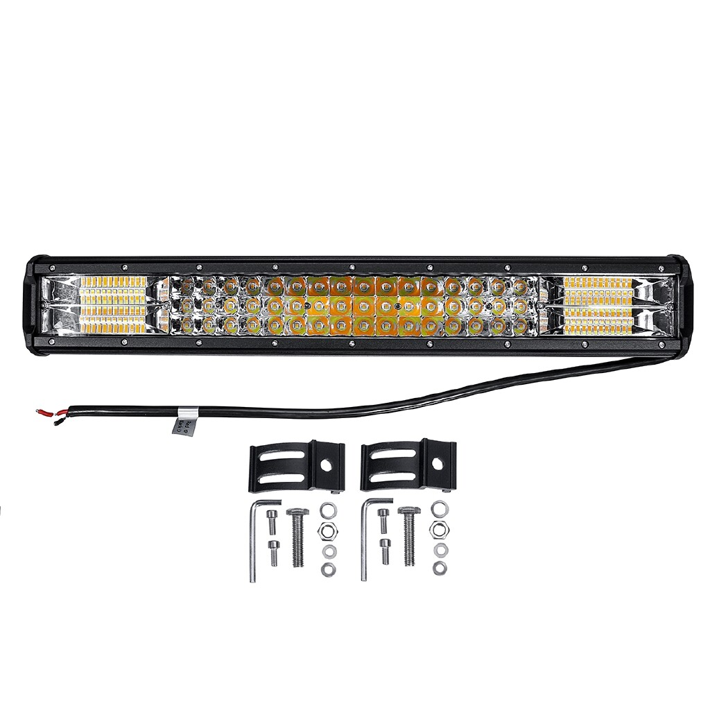 Car Lights - 20 288W 96 LED Work Light Bar Combo Driving White & Amber Lamp SUV ATV UTV 4WD - Replacement Parts