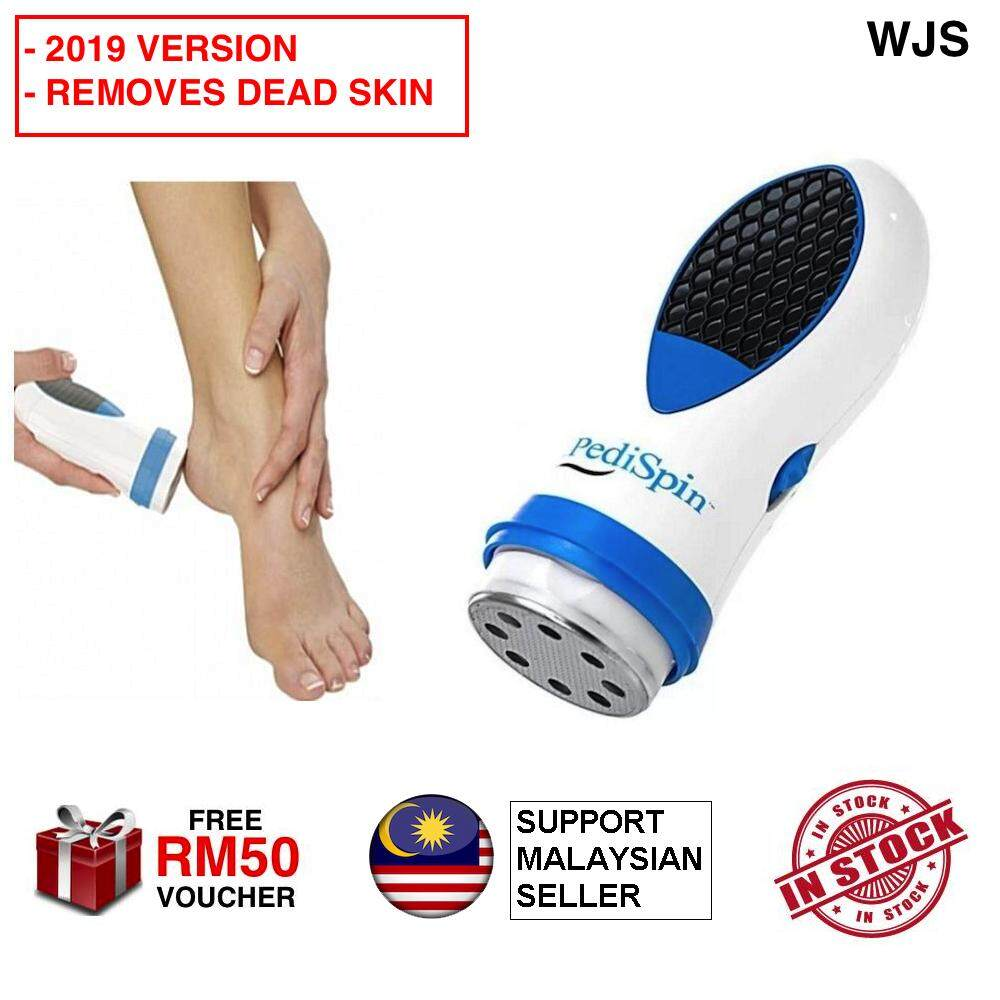 (2019 VERSION) WJS Electronic Foot Callus Removes Women's Men's Pedi Spin Automatic Gently Removes Calluses And Dry Skin Dead Skin Remover BLUE WHITE [FREE RM 50 VOUCHER]