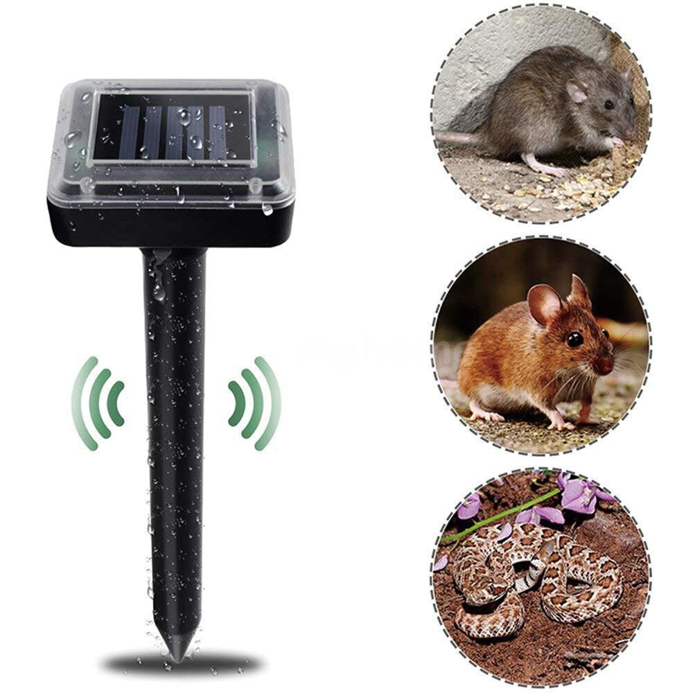 Lighting - Solar Powered Energy Animal Repeller Expeller Driver 2 Pack Adopted ULTRAsonic Technology IP65 - BLACK