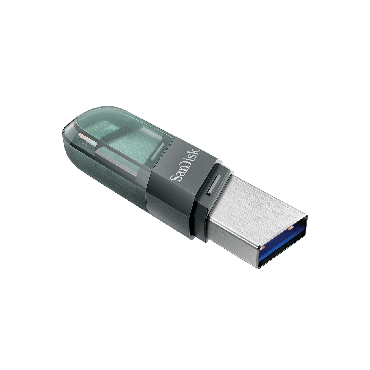 Sandisk OTG Flash Drive iXpand Flip with USB 3.1 and Lightning Connection, Compact Size, iXpand Drive Support, Plug and Play