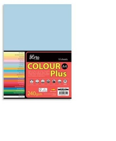 CAMPAP-ARTO 240gms A4 10's COLOUR CARD x 3pkts OLD GOLD
