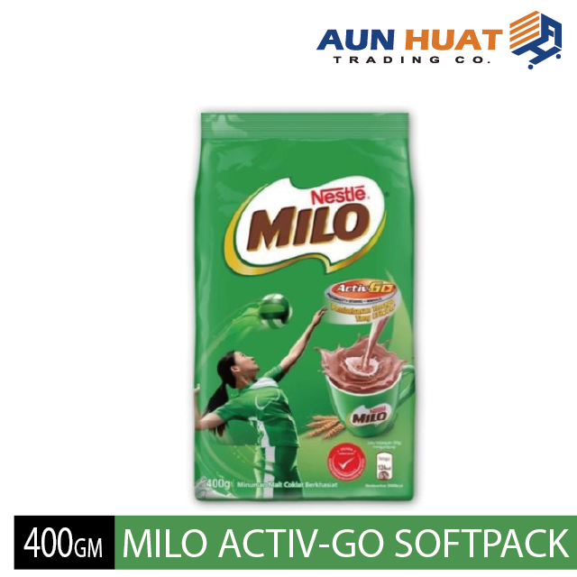 NESTLE MILO ACTIV-GO CHOCOLATE MALT POWDER Softpack 400GM