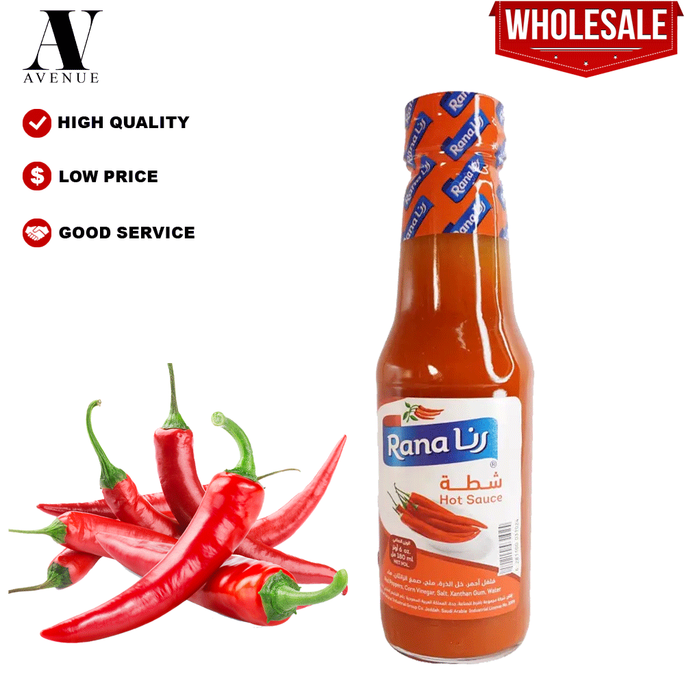 Rana Hot Sauce Large  180 ML sos cili شطة رنا