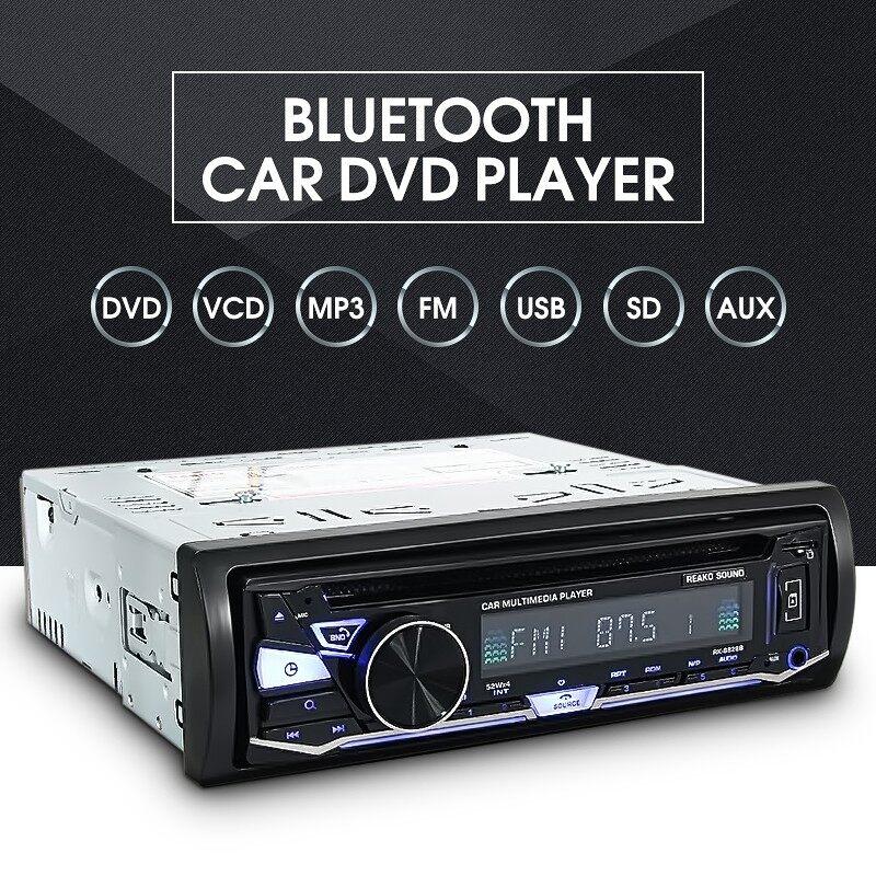 Car Multimedia Players - BLUETOOTH Car Radio DVD MP3 CD Player Multimedia FM AM RDS Receiver Remote Mic - Electronics