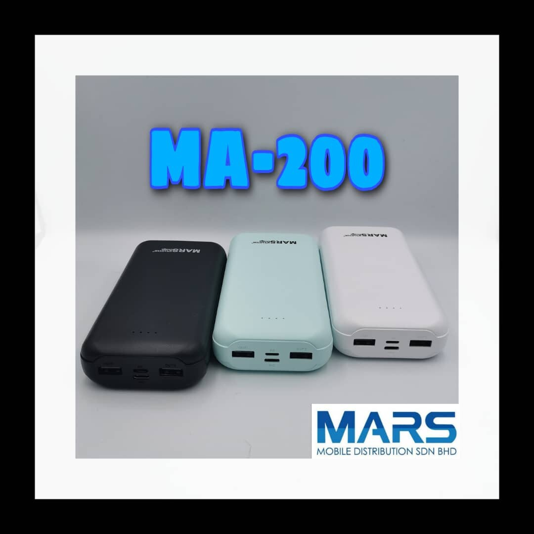 MARS SMARTER DESIGN 100% ORIGINAL Two 5V 2.1A Double Quick Charge 2 USB 2 INPUT Power Bank