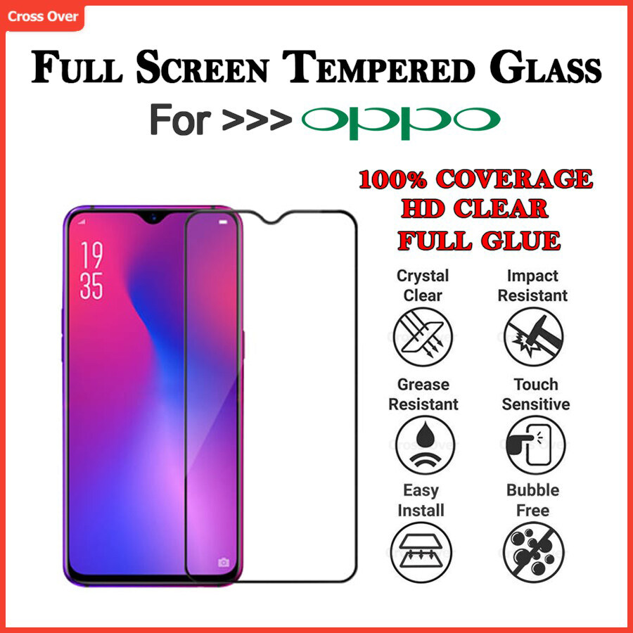 OPPO F5 F7 F9 F11 F11 PRO Full Screen Protector Tempered Glass HD Clear