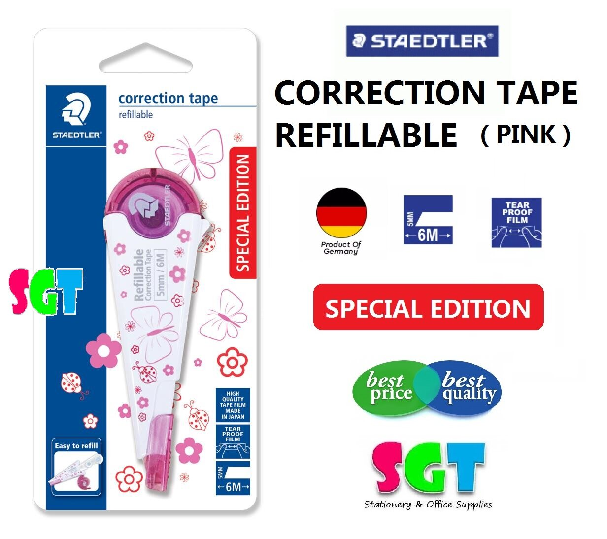 STAEDTLER Correction Tape - Refillable  5mm x 6m