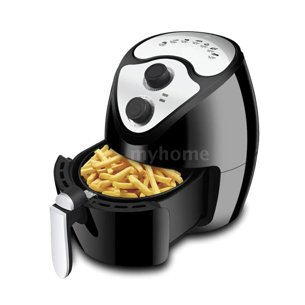 Small Kitchen Appliances - Multifunctional Electric Air FryerAir Oil Free Smokeless Kitchen Cooker 2.6L Capacity 220V - #