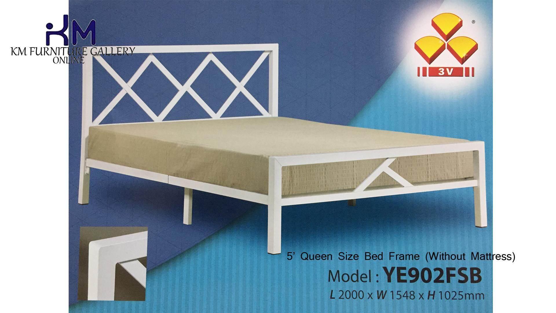KM Furniture Gallery 3V Queen Metal Bed Frame Super Base (YE-902FSB) Without Mattress / Katil Queen Tiada Termasuk Tilam KMYE902FSB