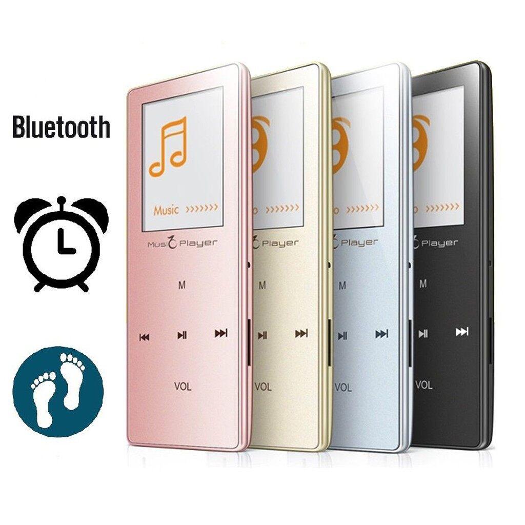 Radios - 8GB MP3 MP4 BLUETOOTH Music LCD Video Player FM Pedometer Voice & Radio Recorder - SILVER / BLACK / GOLD / PINK