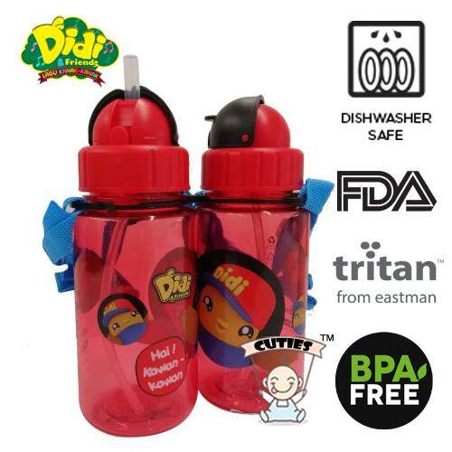 Didi And Friends 350ml Tritan Bottle With Straw (1 pc)