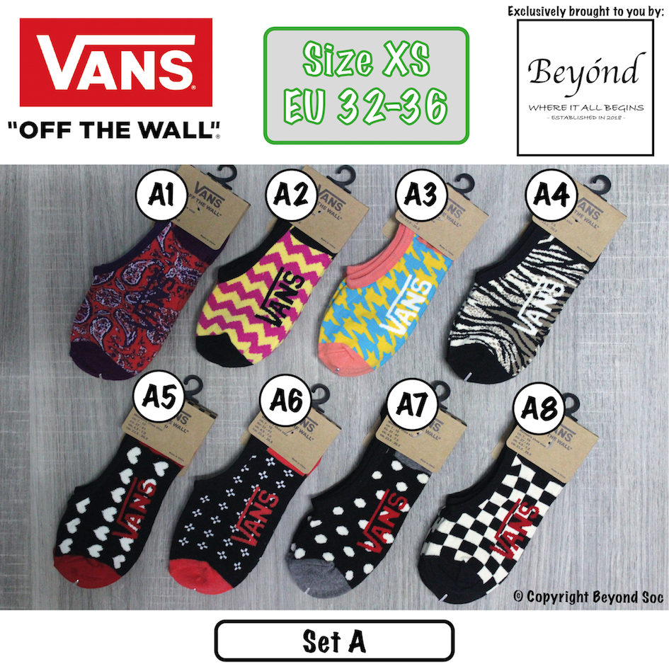 [VALUE BUY] [2 Pairs] Vans - Female Invisible No Show Ankle Socks