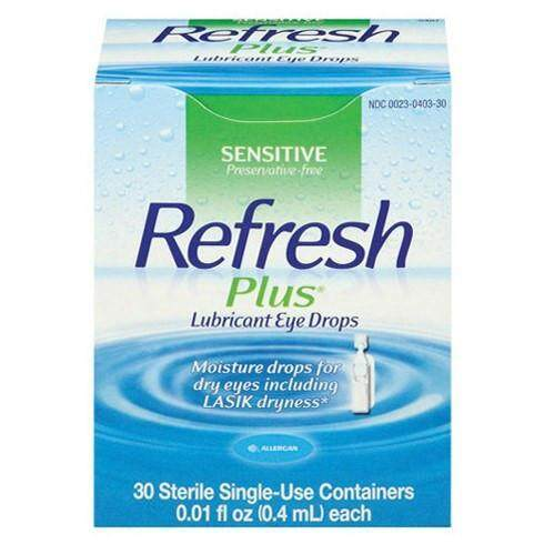 Refresh Plus Lubricant Eye Drop 30 sterile Single use container
