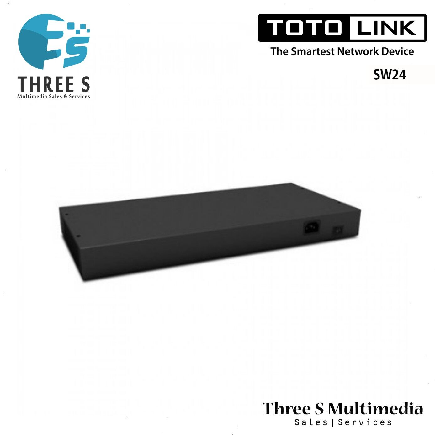 TOTO LINK 24-Port 10/100Mbps Unmanaged Switch SW24