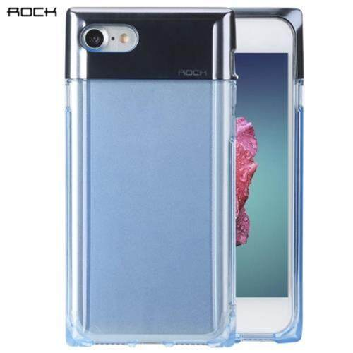ROCK CRYSTAL SERIES CASE MINIMALIST STYLISH TPU + PC PROTECTIVE BACK COVER FOR IPHONE 7 (BLUE)
