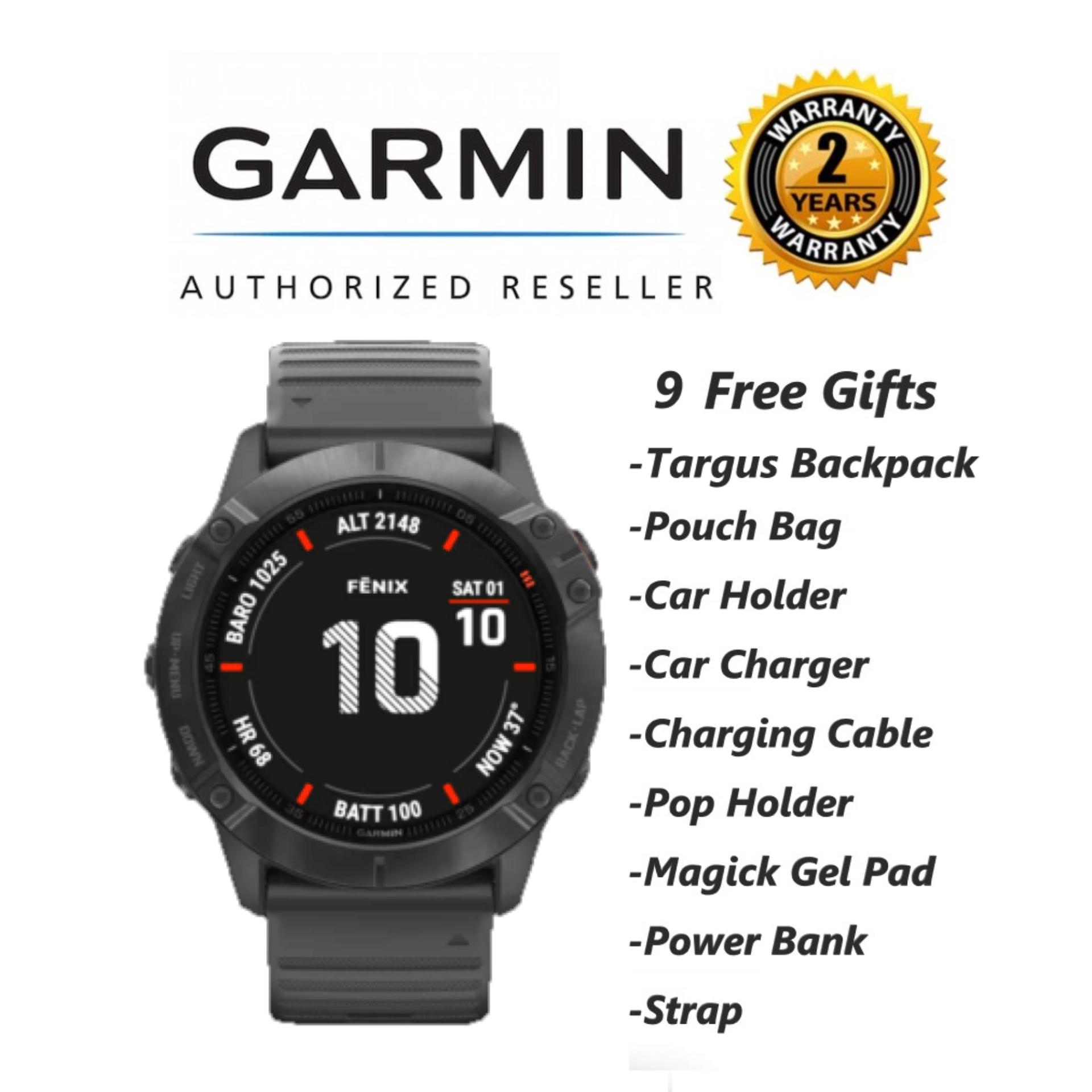 Garmin Fenix 6X Sapphire Sport Running Cycling Swimming Hiking Triathlon GPS Tracking Watch + 9 Free Gifts