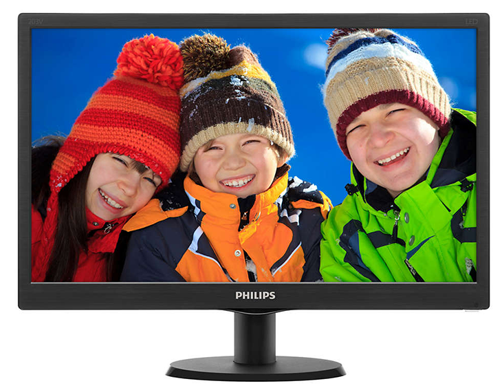 Philips LED Flat 19.5 203V5LHSBS/69 Monitor (TFT-FHD-5MS-VGA-HDMI-VESA)