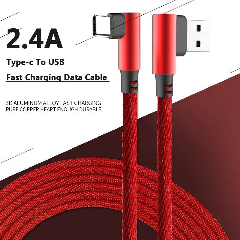 Mobile Cable & Chargers - 0.25/1/2m 2.4A Braided Type-C To USB Fast Charging Data Cable for Samsung - 0.25M / 2M / 1M