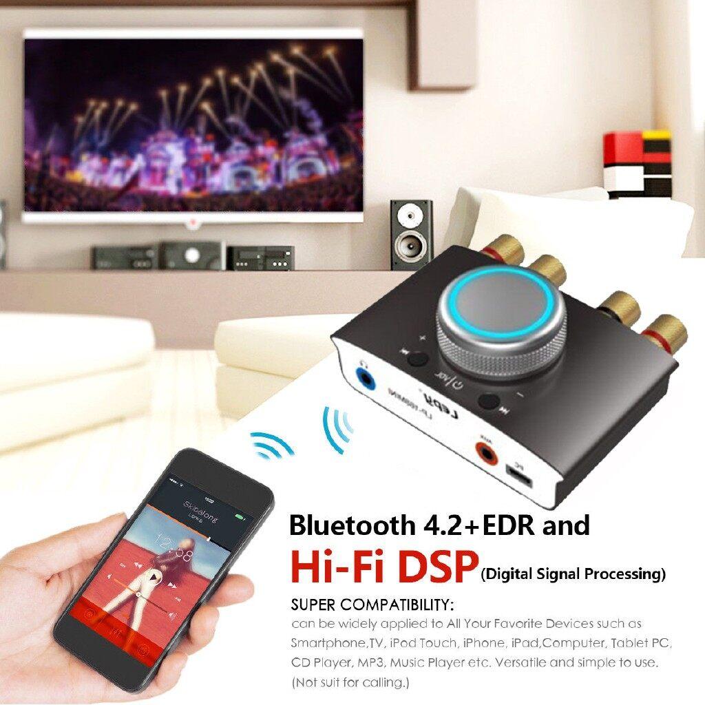 Car Radios - 100W+100W MINI BLUETOOTH Hi-Fi DSP Digital Power Amplifier Stereo Audio Amps - BLACK / RED / GREY / BLUE
