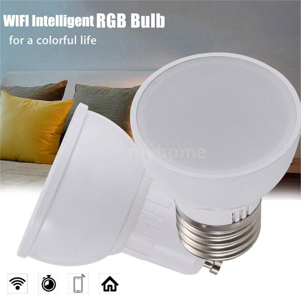 Lighting - GU10/E27/GU5.3 WiFi Intelligent Light Bulb RGBW 6W LEDs Dimmable Lamp Cup Compatible - GU5.3&4 PIECE(s) / GU5.3&1 Piece / E27&4 PIECE(s) / E27&1 Piece / GU10&4 PIECE(s) / GU10&1 Piece