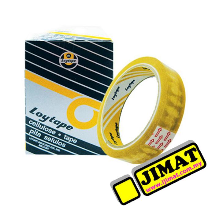Loytape Cellulose Tape 24mm x 40m (6 Rolls/box)