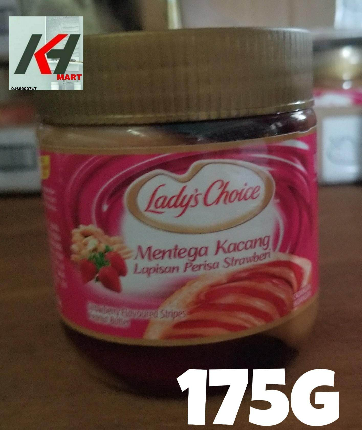 LADY'S CHOICE PEANUT BUTTER (PERISA STRAWBERI) - 175G READY STOCK