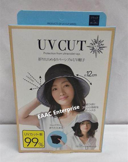 READY STOCK Japan UV Cut Reversible Hat Navy-Beige- Imported from Japan