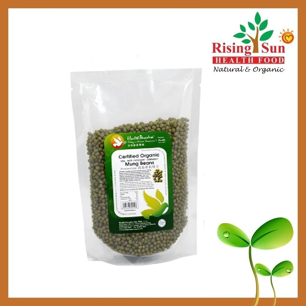 Health Paradise Organic Mung Beans Premium Grade 500Gm