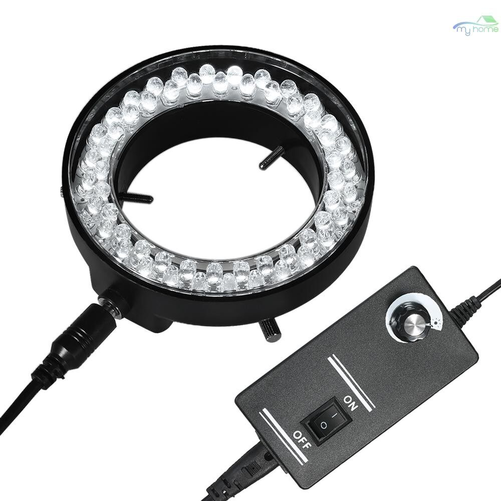 Monitors - Adjustable 56 LED Ring Light Illuminator Lamp For Industry Stereo Microscope Camera Magnifier AC - Computer Accessories