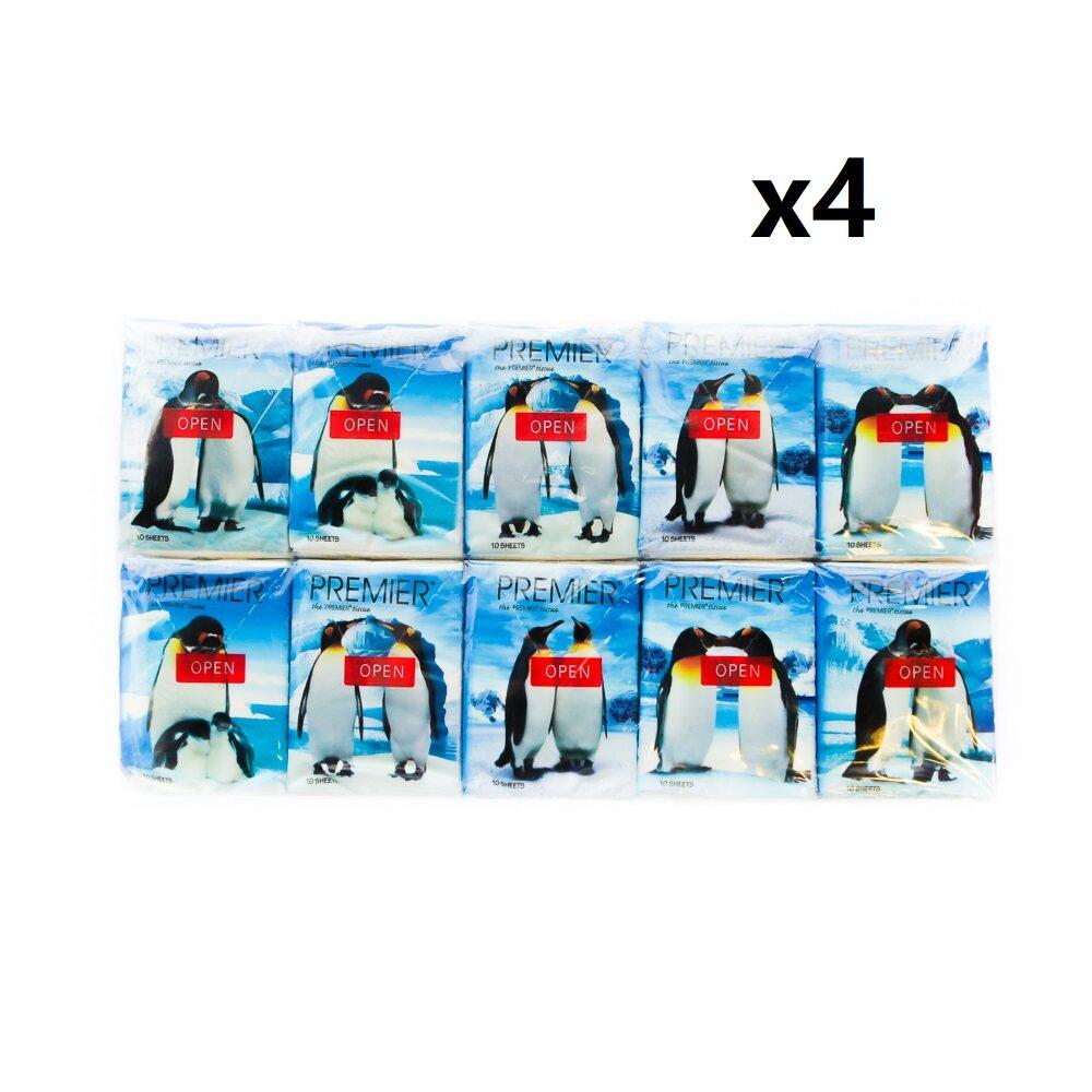 [Ready stock]Malaysia Premier Hanky Pack Tissue - 10's x 10 / bag x4
