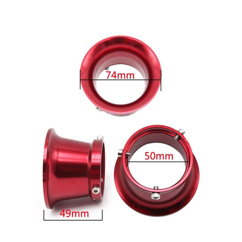 Moto Accessories - 50mm Aluminium Air Filter Interface Cup For 24/26/28/30mm Motorcycle Carburetor - BLUE / RED