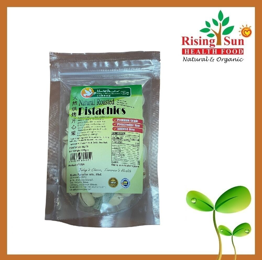 Health Paradise Natural Roasted Pistachios 100G