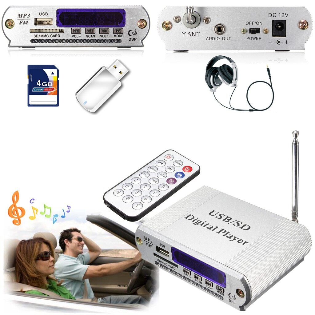 Pendrives - MINI HiFi MMC MP3 SD USB Audio Player Reader Digital Car Power Stereo Amplifier - Storage & Hard Drives