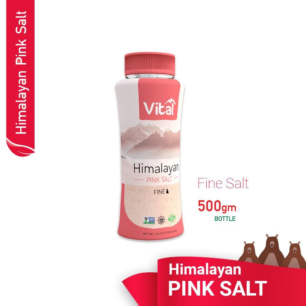 Vital Himalayan Pink  FINE SALT / 500g ` READY STOCK  in MALAYSIA / Organic Salt