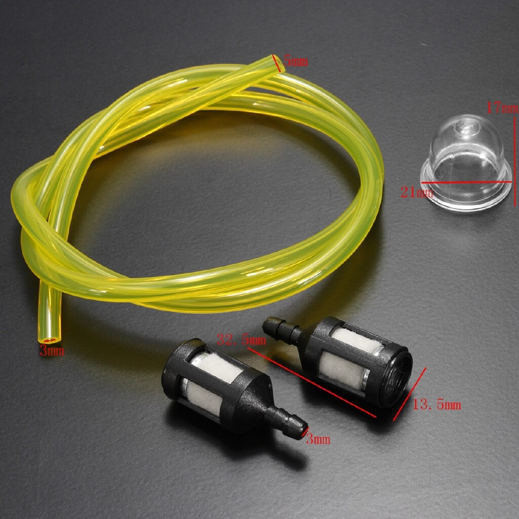 Air Filters - 2Ft ID Fuel Pipe Line Filter Primer Bulb KIT For Ryobi Petrol Trimmers Craftsman - Car Replacement Parts
