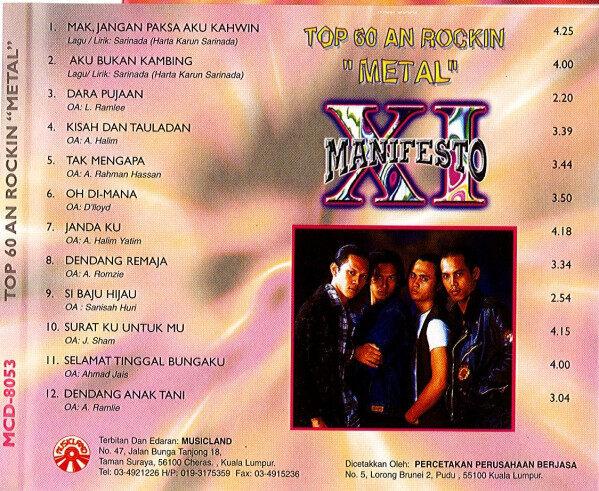 XI Manifesto Top 60 An Rockin Metal CD
