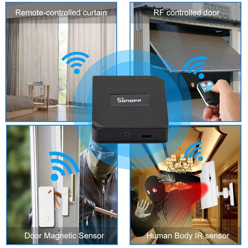 Plugs & Adapters - RF Bridge 433MHz Wifi Smart Switch Voice Control - Home Improvement