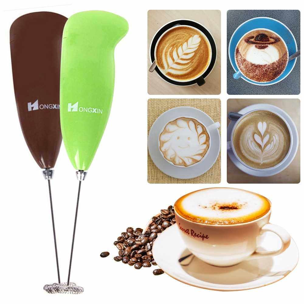 Best Selling Electric Milk Frother Automatic Milk Foam Maker for Bulletproof Coffee Matcha Stainless Steel Whisk Battery Operated Mini Drink Mixer Blender (Coffee)
