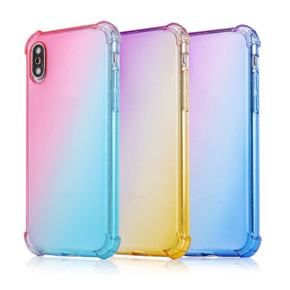 iPh Soft Cover - Gradient Colorful Back Cover Protective Case for Huawei Mate 20 - PURPLE BLUE / PINK PURPLE / PINK GREEN / PINK GOLD