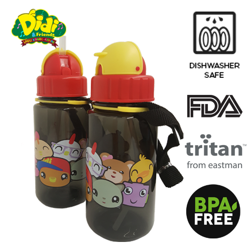 Didi And Friends 350ml Tritan Bottle With Straw - NEW (1 pc)