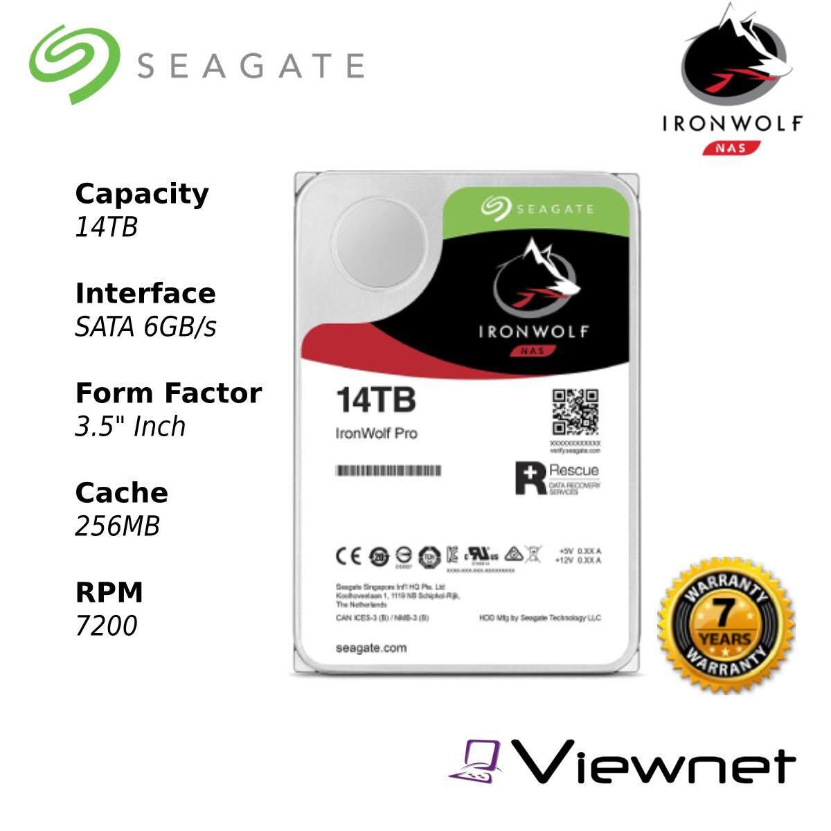 Seagate Ironwolf Pro 8TB/10TB/12TB/14TB/16TB Internal Hard Drive - 7200RPM SATA 6Gb/s 256MB 3.5