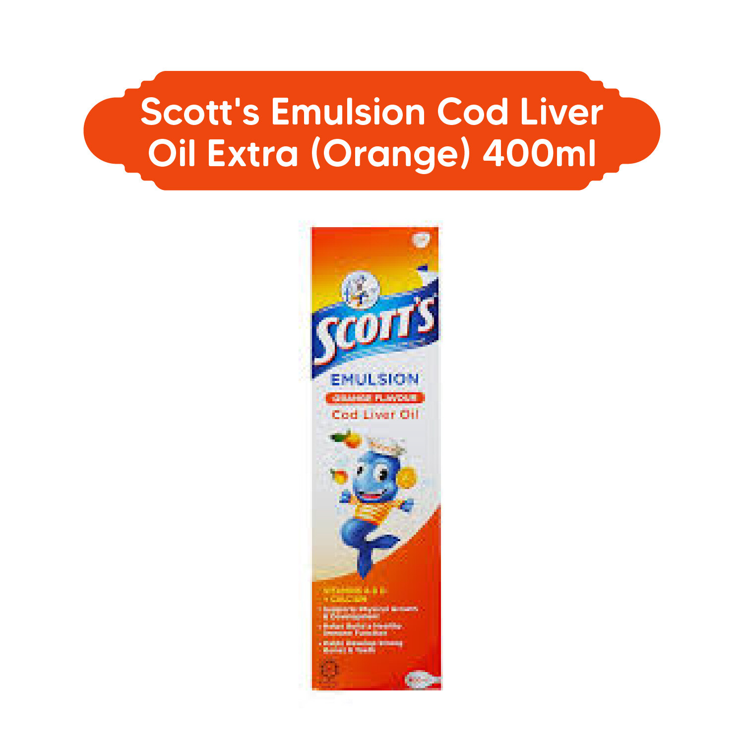 Scott's Emulsion Cod Liver Oil Extra (Orange) 400ml