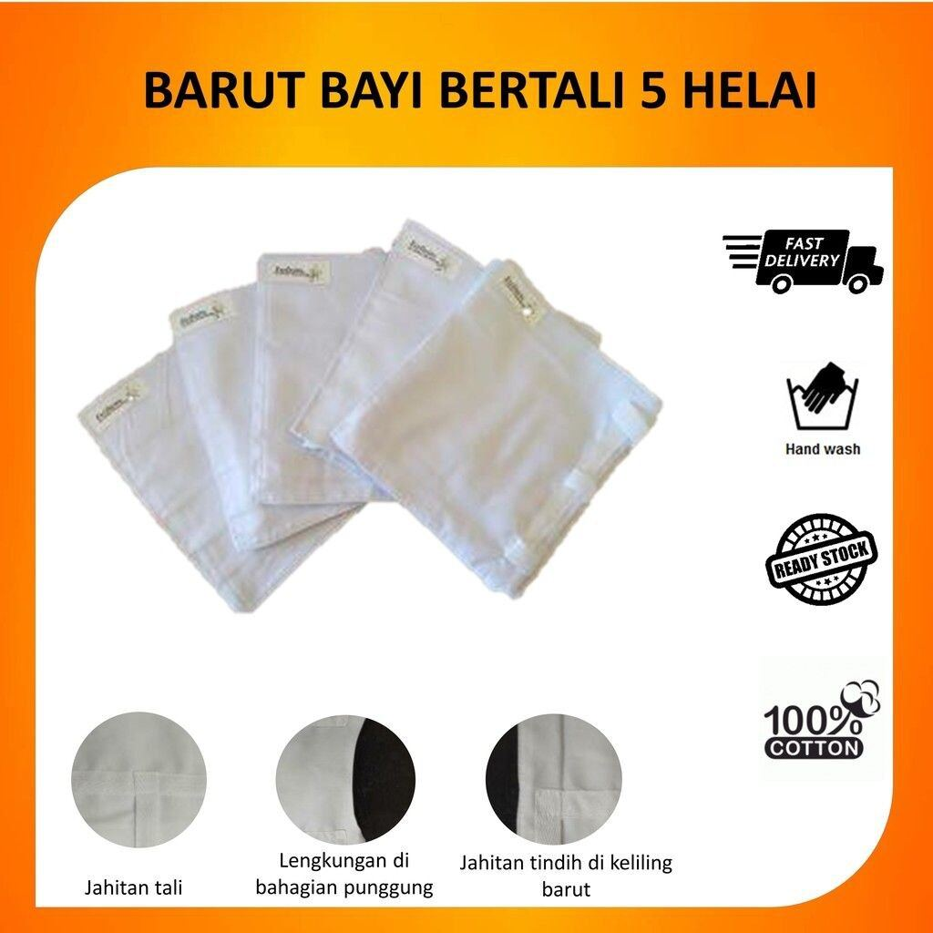 BARUT BAYI 100% COTTON POPPLIN MEDIUM SIZE (5 PIECES)