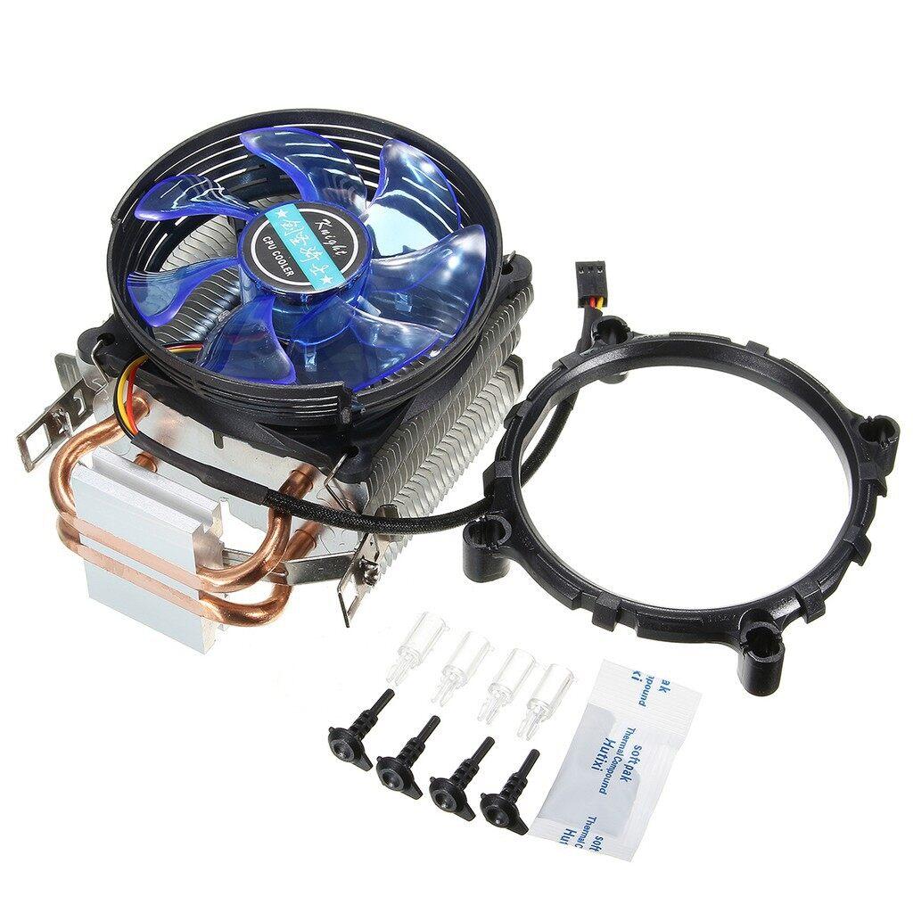 Fans & Heatsinks - 3Pin Copper LED CPU Cooler Fan Heatsink for Intel LGA775/1156/1155 AMD AM2/AM2+ - Components