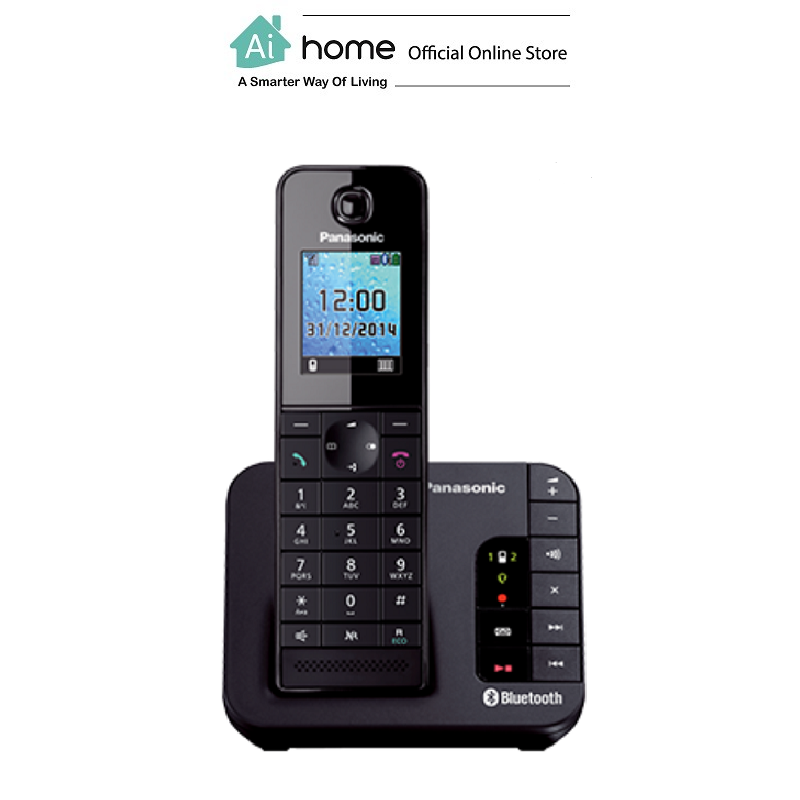 PANASONIC KX-TGH260MLB Bluetooth Cordless Phone (Black) with 1 Year Malaysia Warranty [ Ai Home ]