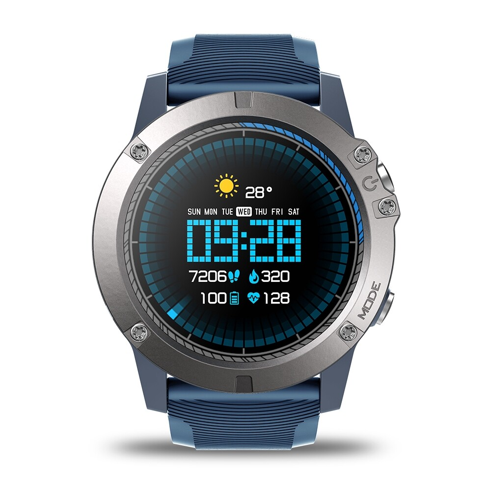 Smart Watch - VIBE 3 Pro Full Round Touch Real-time Weather Optical Heart Rate - BLACK / RED / BLUE
