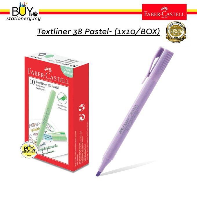 Faber Castell Textliner 38/ Highlighter 38 Pastel - (1x10/BOX)