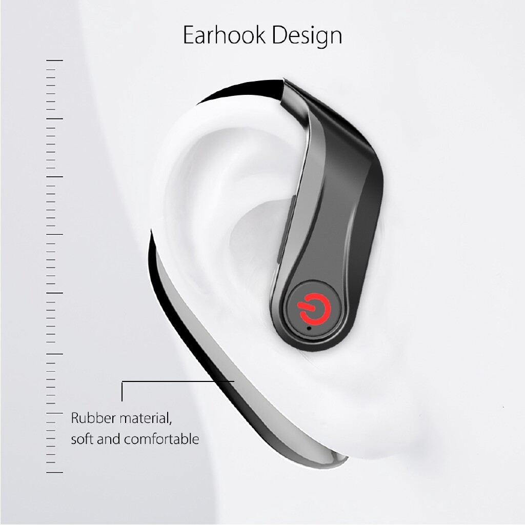 Over-Ear Headphones - PowerHBQ PRO Sports Earphone BLUETOOTH 5.0 Totally WIRELESS Earhooks Earbuds - Audio