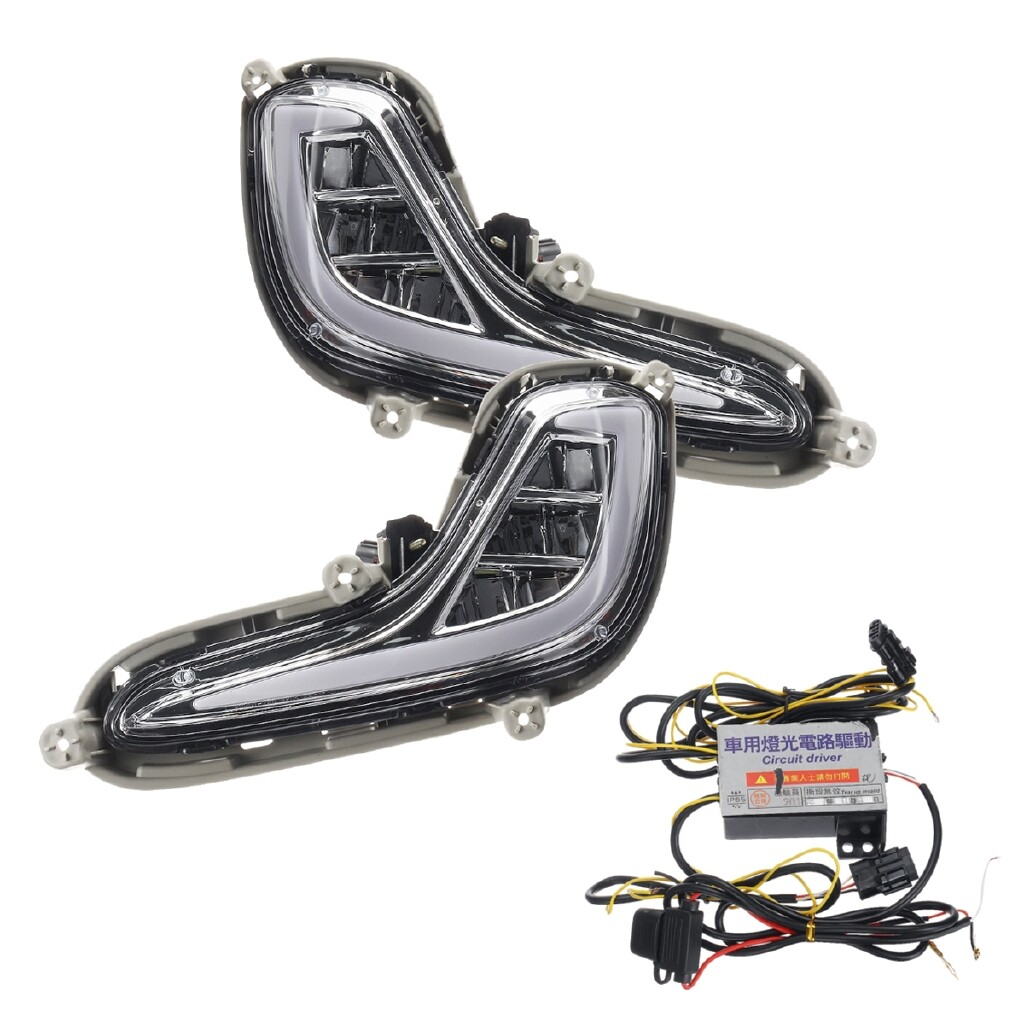 Car Lights - Daytime Running Light Lamps DRL For Hyundai Accent Solaris 2012 2013 2014 2015 - Replacement Parts
