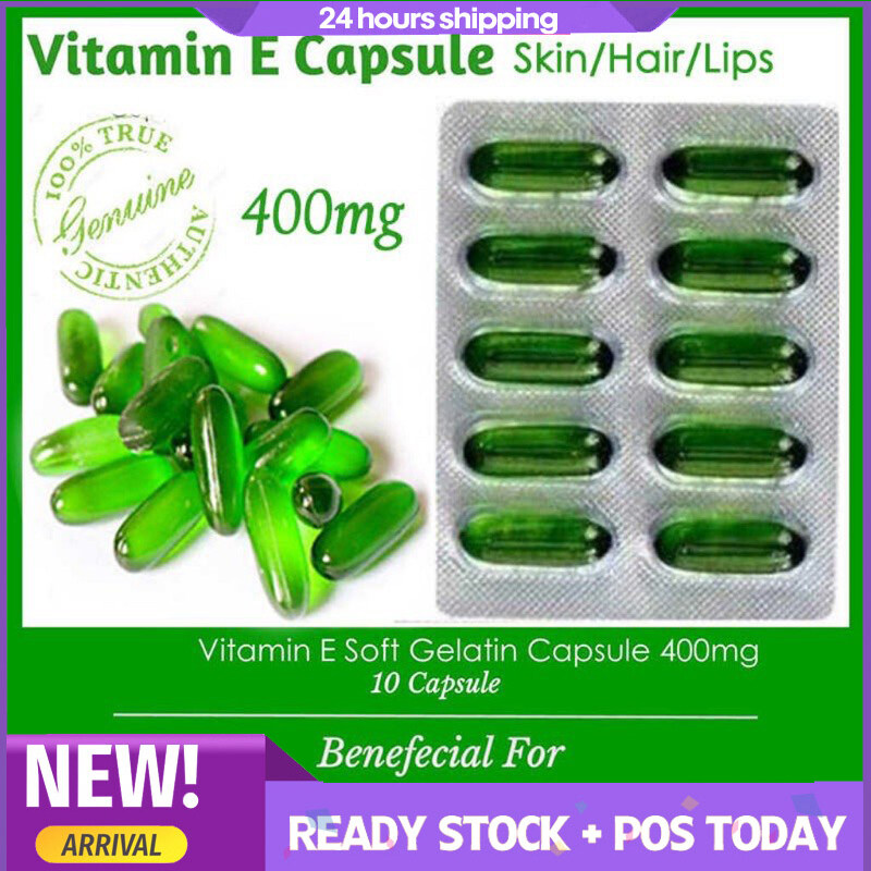 Vitamin E Oil Skin and Hair (1 strip10 Capsules) External Use Only